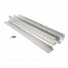 Marco aluminio color plata para instalación en superficie de panel 60 x 60