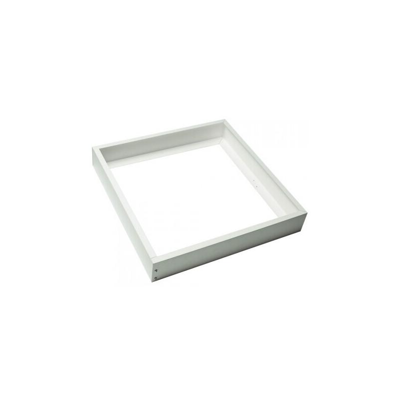 Marco aluminio color plata para instalación en superficie de panel 60x60