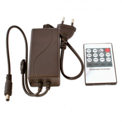 Controller + Transformer with Remote Control for 12V Single Colour LED Strips