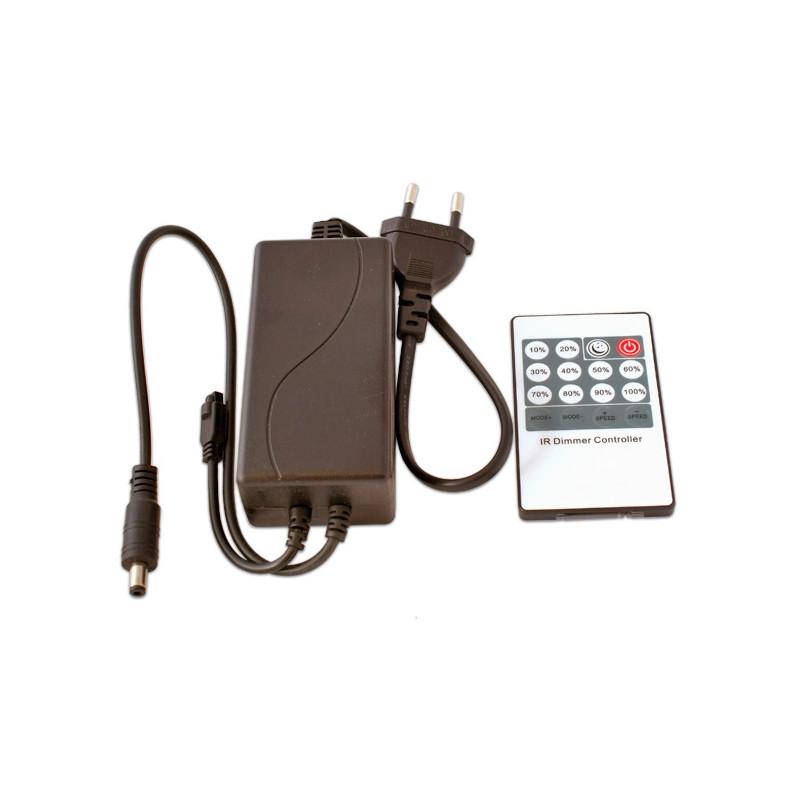 Controlador y mando RGB 30A