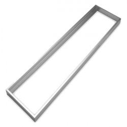 Quadro de alumínio prata para painel 30x120