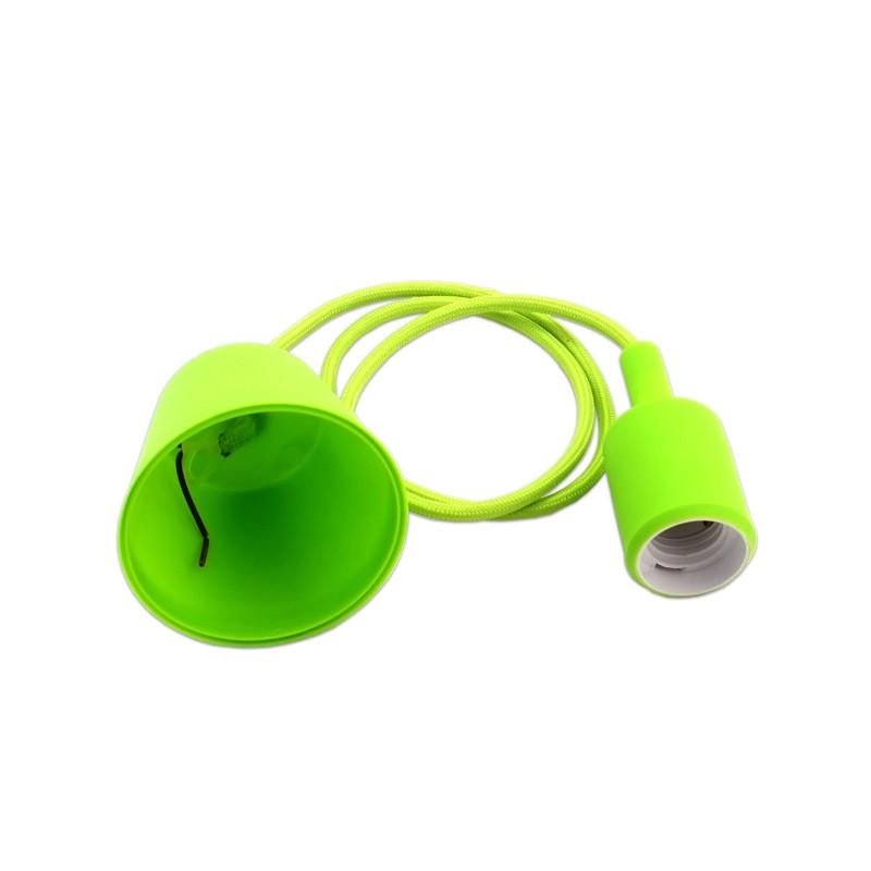 Portalámparas Colgante E27 de Color Verde