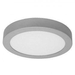 LED Ceiling Light - Round, 18W silver
