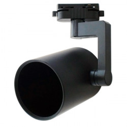 Cylindrical Rail Spotlight - Black, E27 Lamps