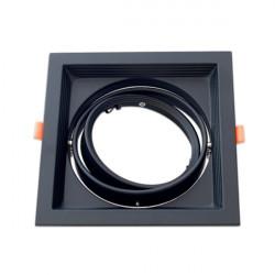 Moldura ajustável para AR111 negra