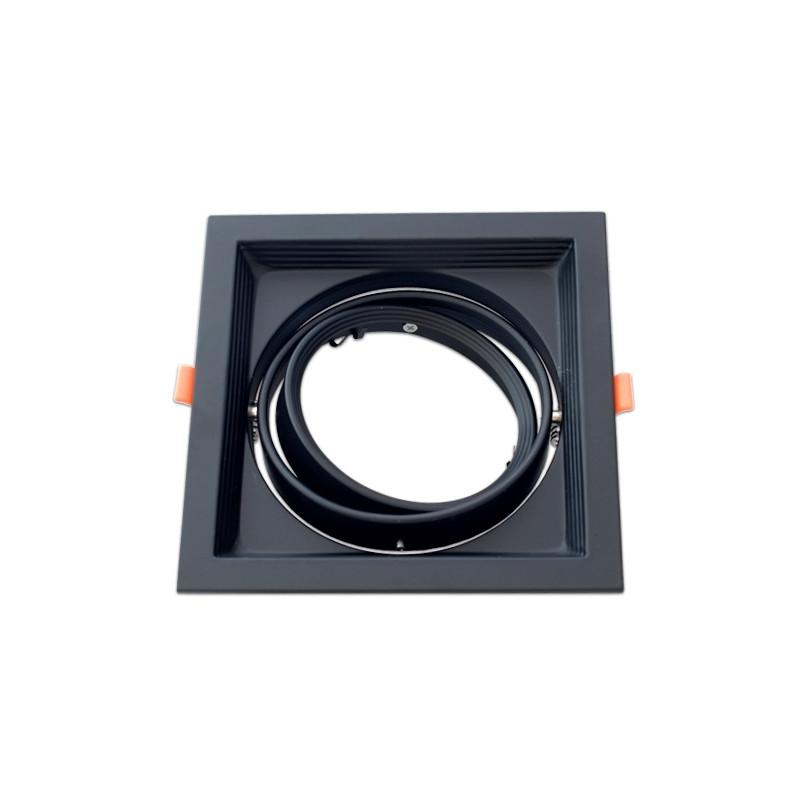 Moldura ajustável para AR111 negro