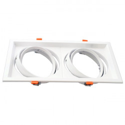 Adjustable white frame for AR111. Double