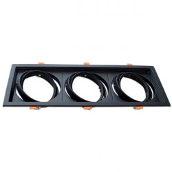 Adjustable black frame for AR111. Triple