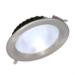LED Ceiling Spotlight - 30W, Round, Silver-Coloured