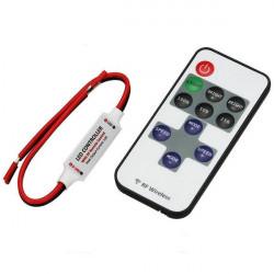 Mini controlador com controle remoto RF de LED 12-24V