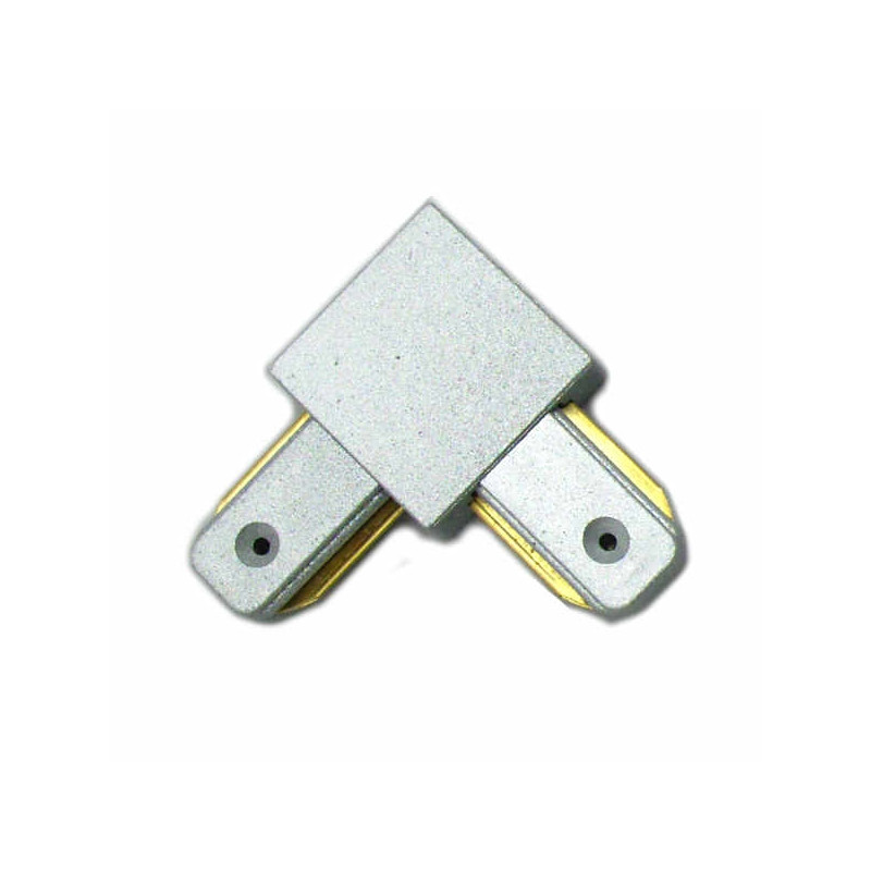 Connectable Rail Connector - Corner, grey