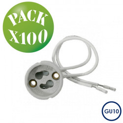 Pack 100 ud. portalámparas GU10