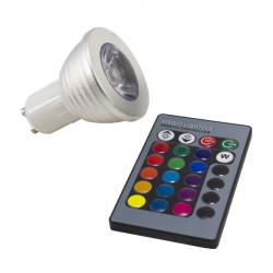 Bombilla dicroica RGB 3W GU10
