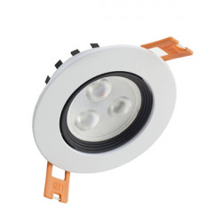 Led Downlight 3W moldura branca