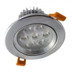Downlight Led 7W plata