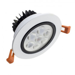 Led Downlight 7W moldura branca