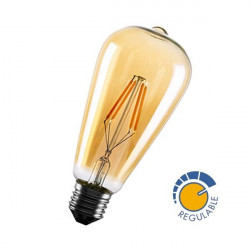 Bombilla REGULABLE led Edison 360º 6W OLD
