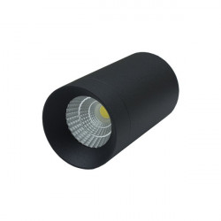 LED Ceiling Light Black -7W white Bridgelux COB