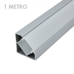 Profile for 1 m LED Strips - Corner, Aluminium
