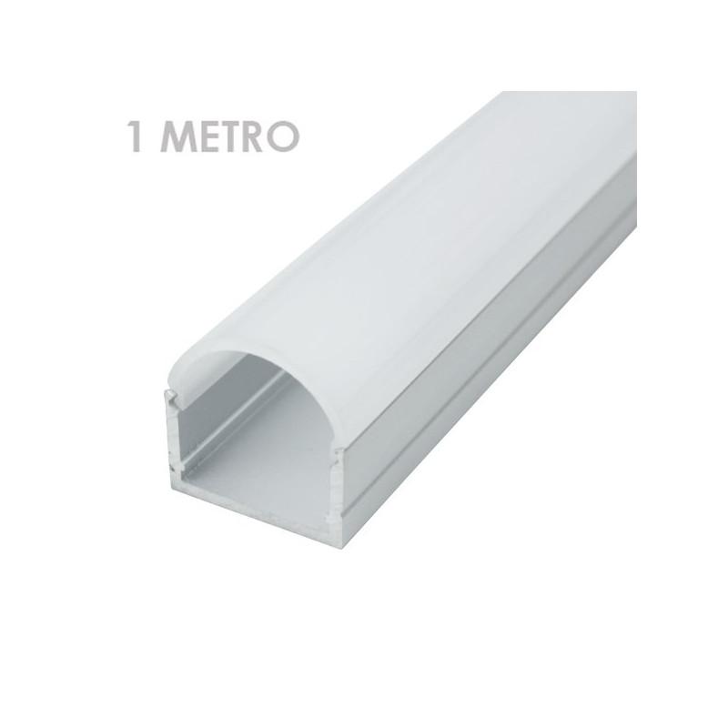 Perfil tira led alumínio retangular 20 x 21 x 1000mm