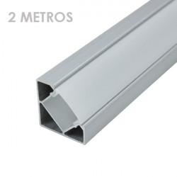 Perfil angular aluminio tira led 2 m