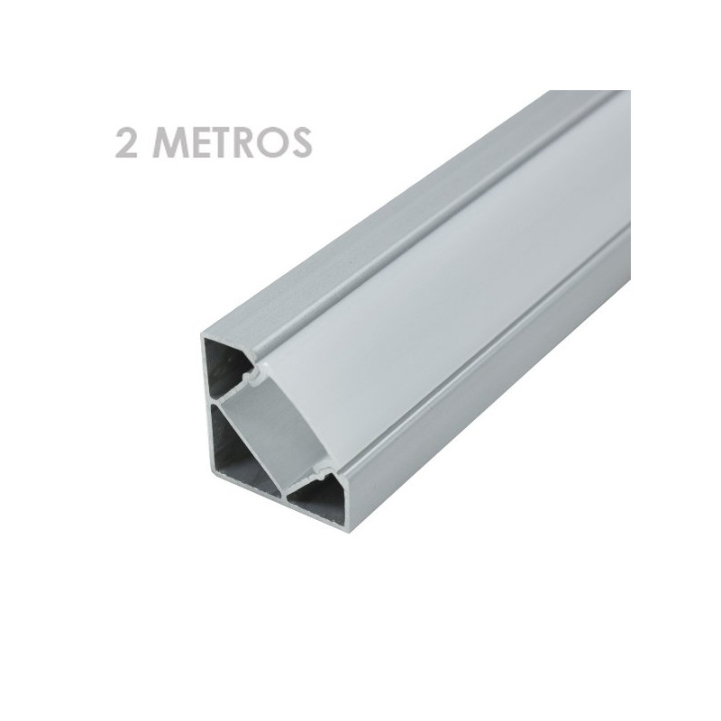 Perfil de alumínio angular tira led 2 metro