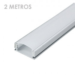 Perfil de alumínio retangular tira led 2 metro