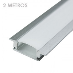 Profile for 2 m LED Strips - Rectangular, Aluminium, Clips