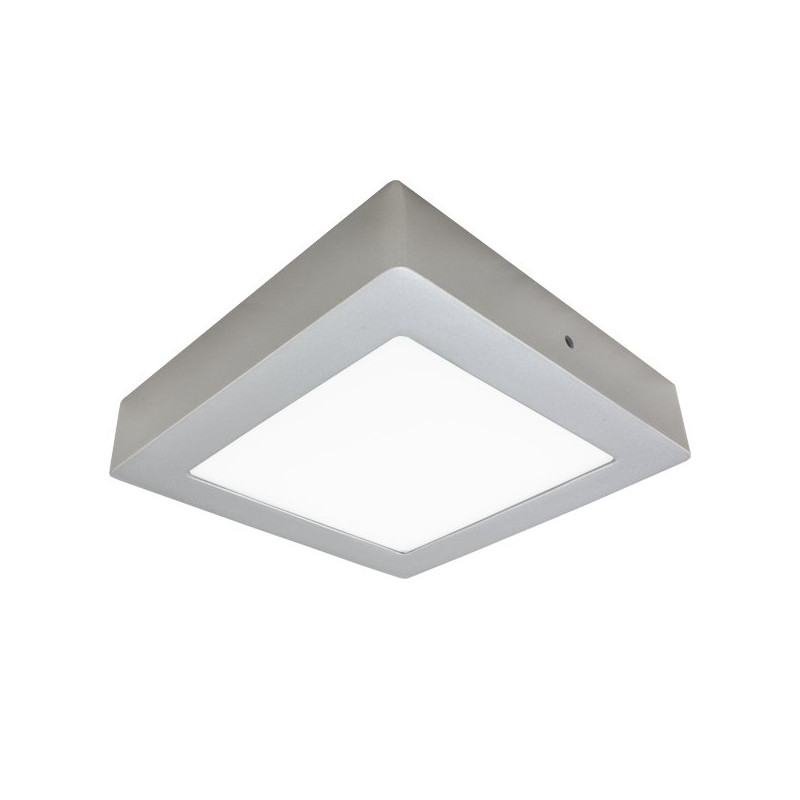 LED Ceiling Light - Silver, Square, 30W