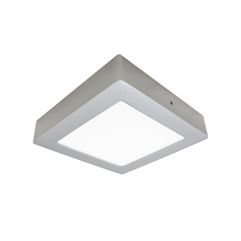 Teto LED 30W de prata quadrado