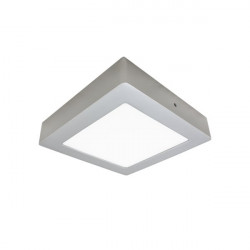LED Ceiling Light - Square, 12W silver