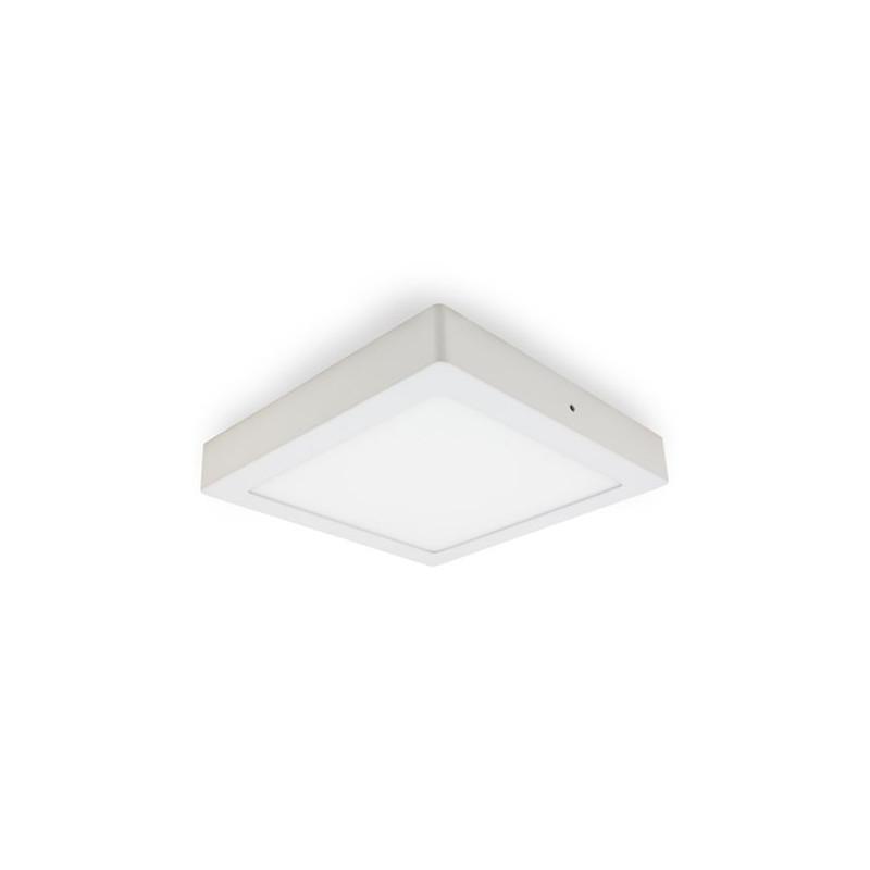 Plafón Led 18W cuadrado luz blanca