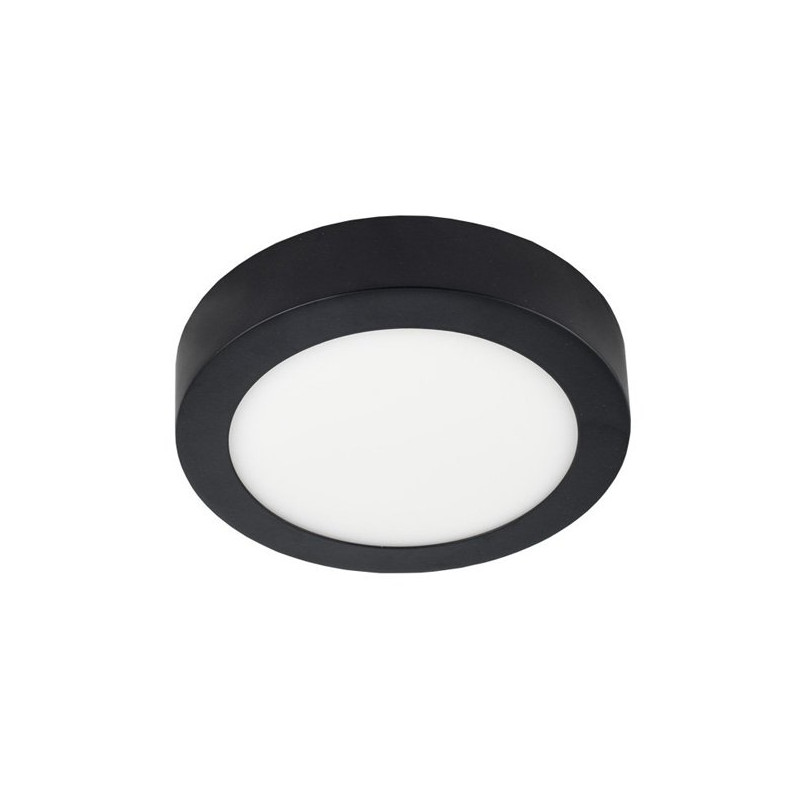 LED Ceiling Light - Round, 12W black housing