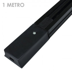 Carril focos led negro 1 metro ensamblable