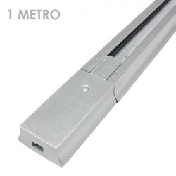 Carril focos led color plata 1 metro ensamblable
