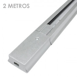 Carril focos led color plata 2 metro ensamblable