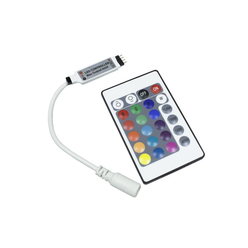 Mini-Controller with Remote Control for 12V RGB LED Strips