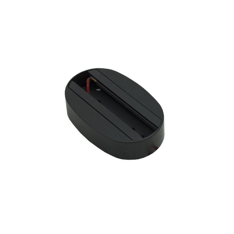 Base carril superficie pequeña color negro