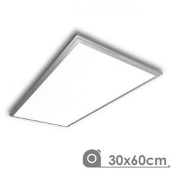Panel Led 30 x 60 cm 25W marco plata