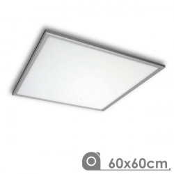 Panel Led 60 x 60 cm 40W marco plata