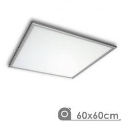 Painel de LED 50W 60 x 60 cm slimline. Moldura prata
