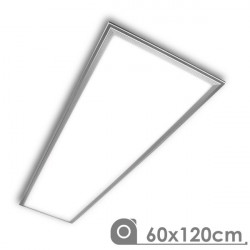 Panel LED 60X120 cm 72W marco plata