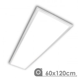Painel led 60x120 moldura branca