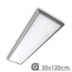 LED Panel - Extra-slim, 40W, 30 x 120 cm Silver Frame