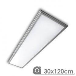 Panel Led 30 x 120 cm 40W marco plata