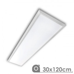Painel de Led 30 x 120 Slimline 40W moldura branca