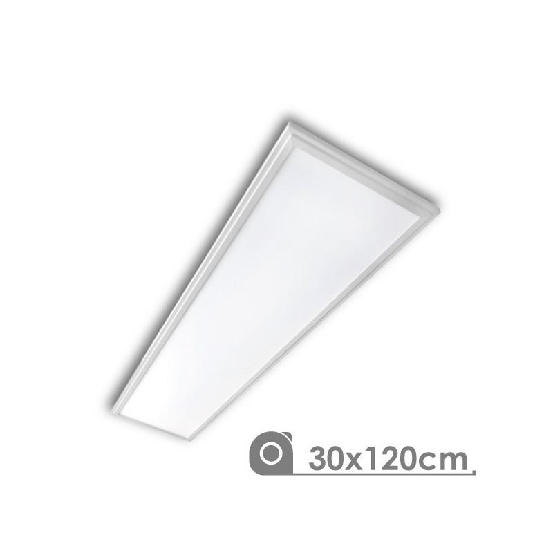 Panel Led 30 x 120 cm 40W marco blanco