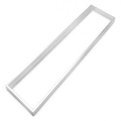 Quadro de alumínio branco para painel 30x120