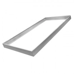 Marco aluminio plata para panel 60x120