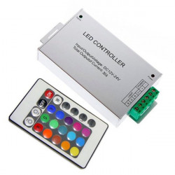 Controller with Remote Control for RGB LED Strips - 30A